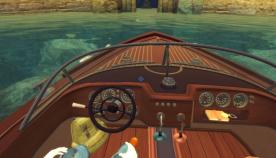 ボート乗船中の図